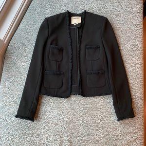 L'Agence Jules black fringe jacket blazer